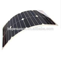 Sunpower solar cells high efficiency flexible solar panels 25W for boats, High Quality flexible solar panels for cars