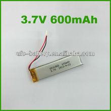 3.7v 600mah Li-ion Batteries 501865 3.3V 6VLithium Battery For Remote Sensor