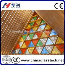 CE Certificate Decorative PVC Profile Stained Glass Windows