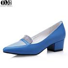 2014 factory price elegant women thick low heel dress shoes, pointed toe ladies high heel dress shoe