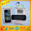 waterproof plastic bag fancy waterproof phone bag for iphone 5/5s with earphone