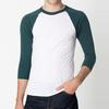 Fancy popular 3/4 sleeve t-shirt, wholesale 3/4 sleeve raglan t-shirt, blank white 100% cotton t-shirts manufacturers