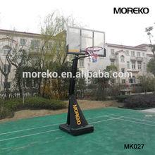"High Quality Home Adjustable basketball Stand MK027 with 54"" fiberglass basketball backboard,breakaway rim"