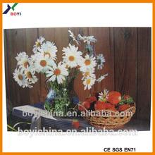2014 Vintage Design 3D Lenticular Pictures Of Flowers Printing
