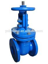 Metal seated DIN rising stem cast iron gate valve