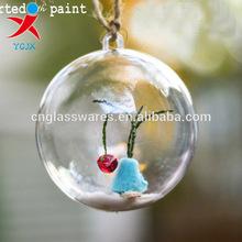 lampwork borosilicate glass ball christmas ornaments