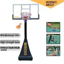 "MK027 Adjustable Basketball Goals with Breakaway Spring Rim, 54"" PC Fiberglass Backboard"