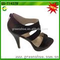 новое прибытие дешевые цена моде высокий каблук сандалии женская обувь 2014