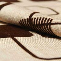 coffee flocked home textile decorative fabrics