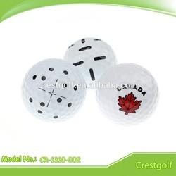 Logo two piece golf range ball/practice golf ball hardness 80%-90%