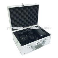 SLR Camera Hard Aluminum Metal Carrying Case Travel Briefcase Silver Tool Bag