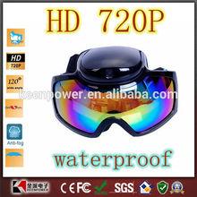 HD 720P Waterproof Skiing Goggles Hidden glasses Camera