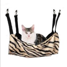 Leopard Zebra Cat Bed Cage Small Pet Hang On Hammock