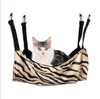 Leopard Zebra Cat Bed Cage Small Pet Hang On Hammock