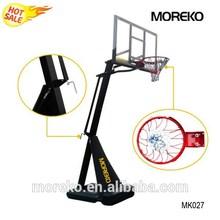 "Residential Backyard Portable Basketball Goals MK027 with Breakaway Spring Rim, 54"" PC Fiberglass Backboard"