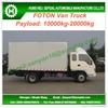 10-20t FOTON 4*2 van truck for sale