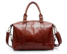 2014 Wholesale designer fashion western name brand burnished pu leather women messenger bag