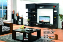 2014 Black plasma tv wall units is made by Melamine MDF board for living room