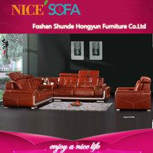 Popular simple modern sofa set dubai leather sofa furniture QZN820L