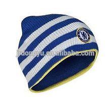mens womens embroidered blue white stripe ski hat