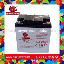 Back up Supply deep cycle solar 12v 26ah power craft 24v battery