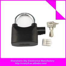 Venta directa de fábrica de alta calidad de alarma de seguridad candado, 110db sirena de alarma candado de bloqueo