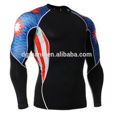 ผลิตยาวแน่นพอดีกับเสื้อผ้าการบีบอัด, การบีบอัดที่มีคุณภาพออกกำลังกายสวมhiogh