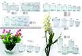 Ventas directas de la fábrica diverso tamaño florero de vidrio transparente