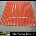 couleur enduit galvanisé gi tôle de toiture ondulée tôle de toiture