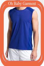 Fashionable jersey sports design,sleeveless fitness o-neck men's tshirt