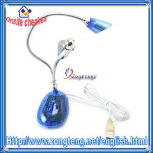 USB 898AF LED Light Tube With Mini Fan Blue