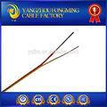 400 deg. C fibre de tresse avec sus304 tresse de blindage de fil de thermocouple k