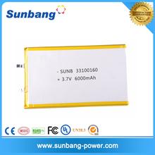3.3mm ultrathin lithium battery aluminium fabrication lithium 6000mah 3.7V 7.4V 11.1V