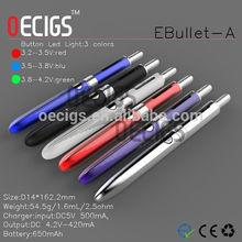 2014-2015 Newest design E-Bullet stainless steel electronic cigarette dubai
