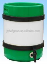 20L slim plastic beer keg with tap