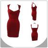 Elegant cap sleeve red dress fashion evening dress wholesale bandage dress
