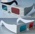 Cheap paper passive circular polarized anaglyph passive 3d glasses