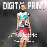 Silk Fabrics digital print fabric textile printing S13