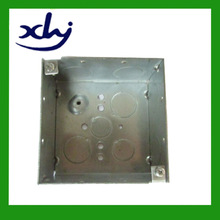 pre-galvanized square surface mount switch box with raised earth screw