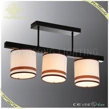 2015 wholesale factory price fabric shade wood pattern pendant light CE/VDE/UL trade assurance