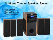 DM-6517 Wooden box 5.1 high quality audio speakers