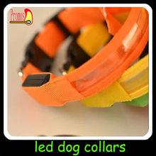 2014 fashion wholesale Christmas gift plain led dog collar dog leashes sex dog for puppy