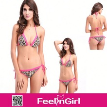 Whelesale sexy cheap pink leopard mini fotos de bikinis transparentes