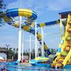 six person huge large games boomerang slide fiberglass hurricane slides water aqua theme park amusement rides for sale
