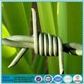 Rollo de plástico con alambre de púas de hierro galvanizado para valla, precio