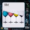 Wholesale Soda-Lime Clear Bohemia crystal fancy wine glass for Party
