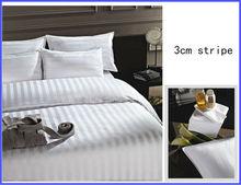 100% Cotton Hotel Bed linen/Hotel Bedding sets 3 cm stripe