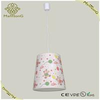 2015 Modern hot sale lovely bear fabric shade pendant light for kids' room