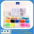 wholesale diy rainbow colorful silicone loom kit
