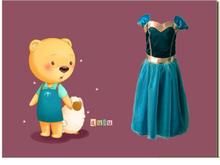 Eye-catching girls frozen dresses fashion children fairy dresses